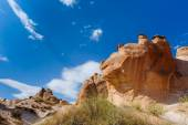 Bizzare rocks in Cappadocia, Turkey — Stock Photo