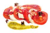 Caprese antipasto salad with mozarella cheese, tomatoes — Stock Photo