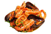 Seafood mixed saute — Stock Photo