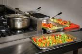 Cozinha do restaurante real — Fotografia Stock