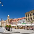 Usual day at Council Square, Brasov — Stock Photo #78745890