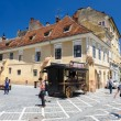 Usual day at Council Square, Brasov — Stock Photo #78747340
