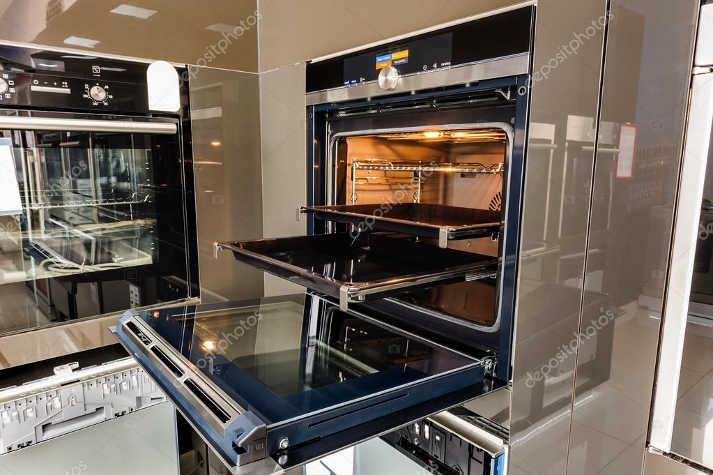 Elektrische oven met deur open — stockfoto © starush #82703500