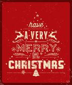 Typography  Christmas Greeting Card — Stockvektor