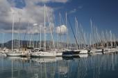 Marina. Greece. Sailboats — 图库照片