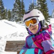 Girl with ski goggles and helmet — Stock Photo #65578683