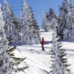 Man on the ski lift — Stock Photo #65578801