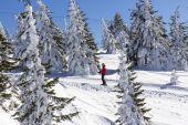 Man on the ski lift — Stock Photo