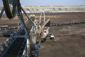 A giant excavator in a coal mine — ストック写真