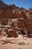 Petra graves in Jordan — Stock Photo