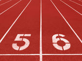 Running track lane — Stock Photo
