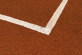 Tennis court line — Stock Photo