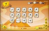 Egyptian Pyramid GUI Design For Tablet — Stockvektor