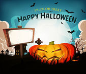 Halloween Holidays Landscape Background — Stockvector