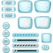 Cartoon Icy Elements For Ui Game — Stock Vector #57997843