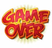 Game Over Icon For Ui Game — Stock Vector