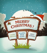 Merry Christmas Holidays Background — Stock Vector