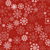 Seamless Christmas Snowflakes Background — Stock Vector