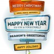 Merry Christmas And Happy New Year On Urban Signpost — Stock Vector #60072905