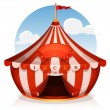 Big Top Circus With Banner — Stock Vector #60991957