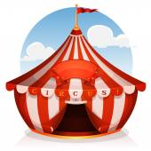 Big Top Circus With Banner — Stock Vector