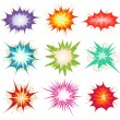 Comic Book Explosion, Bombs And Blast Set — Vector de stock  #62967599