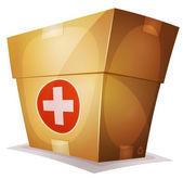 Medicina divertida caja para juego de interfaz de usuario — Vector de stock