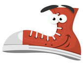 Funny Shoe Character — Stock Vector