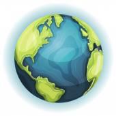 Cartoon Earth Planet — Stock Vector
