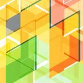 Plantilla de diseño geométrico abstracto — Vector de stock