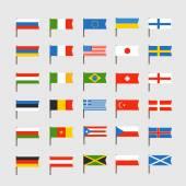Inny kolor flagi państw. sztuka — Wektor stockowy