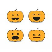 Different helloween pumpkin icons clip-art — Stock Vector