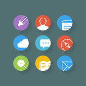 Different web browser icons set with rounded corners. Design ele — Vetorial Stock