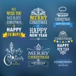 Merry Christmas and a happy New Year wishes. Design elements — Vector de stock  #55233519