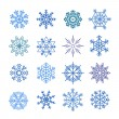 Different blue snowflakes set. Design elements — Stock Vector #55233549