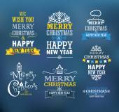 Merry Christmas and a happy New Year wishes. Design elements — 图库矢量图片