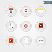 Color interface icons collection. Design elements — Stock Vector