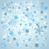 Snowfall in winter. Abstract background — Vettoriale Stock