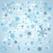 Snowfall in winter. Abstract background — Stockvektor