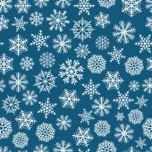 Blue seamless christmas background of flakes — Stock Vector
