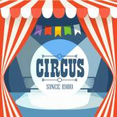 Circus postcard template. Design elements — Vector de stock
