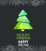 Merry Christmas and a happy New Year greeting card — Stock Vector