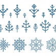 Different snowflake elements set. Design template — Stock Vector #59218413