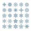 Different snowflake elements set. Design template — Stock Vector #60198609