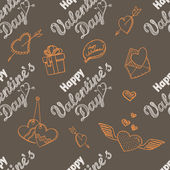 14th February seamless pattern — Vector de stock
