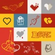 Different abstract heart icons collection. Valentine greeting ca — Stock Vector #62367827