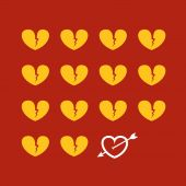 Different abstract hearts. Valentine greeting card — 图库矢量图片