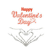 Happy Valentines Day greeting card. Design template — Vetor de Stock