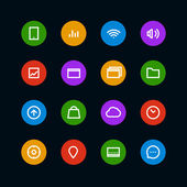 Different color interface icons set. Design elements — Stock Vector