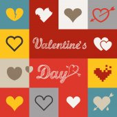 Different abstract heart icons collection. Valentine greeting ca — Stock Vector